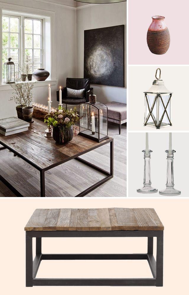 romantic rustic coffee table vignette Inspiration Pinterest
