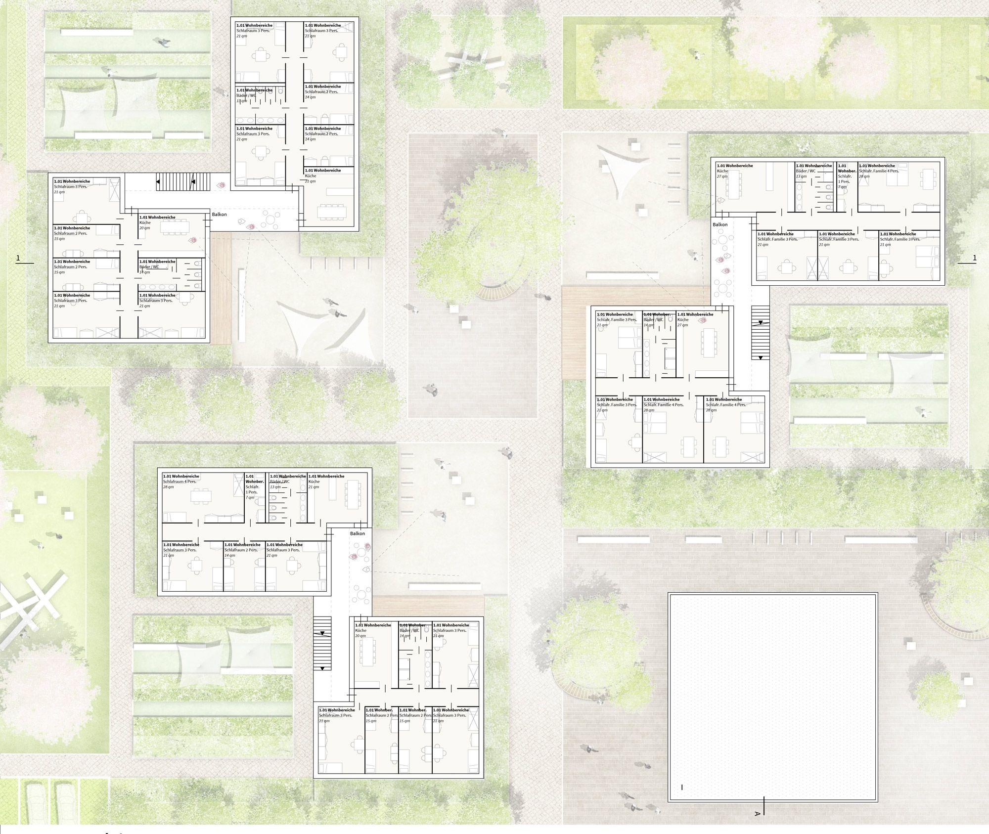 Grundriss Lesen teilnahme grundriss 1 obergeschoss h4a architekten