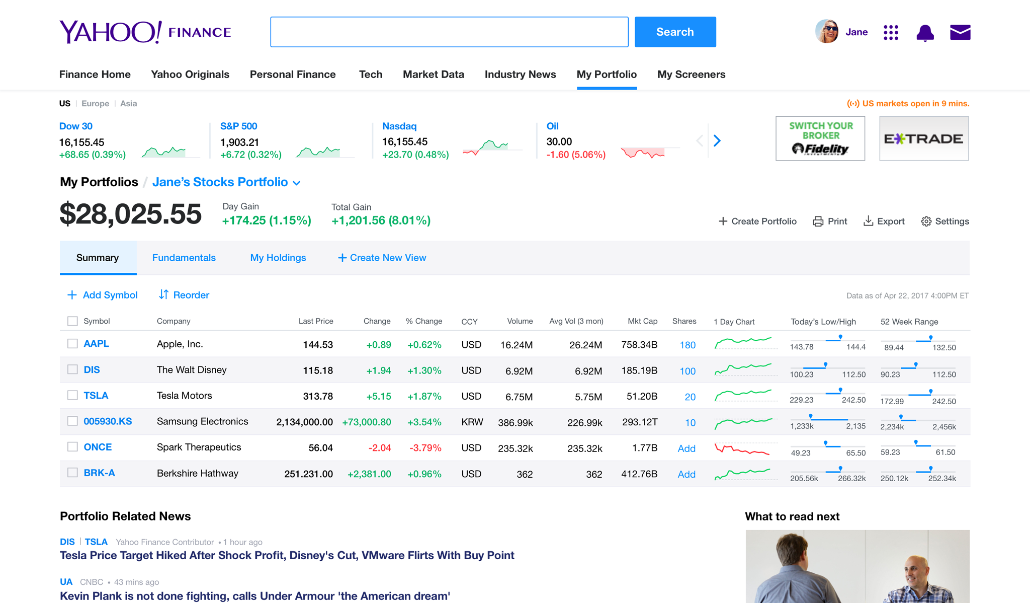 Yahoo Finance Stock Quotes Mesmerizing Yahoo Finance  Business Finance Stock Market Quotes News