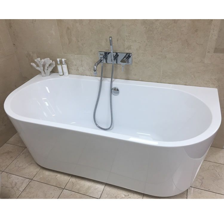Oxford 1640 Contemporary Back To Wall Freestanding Bath In 2020