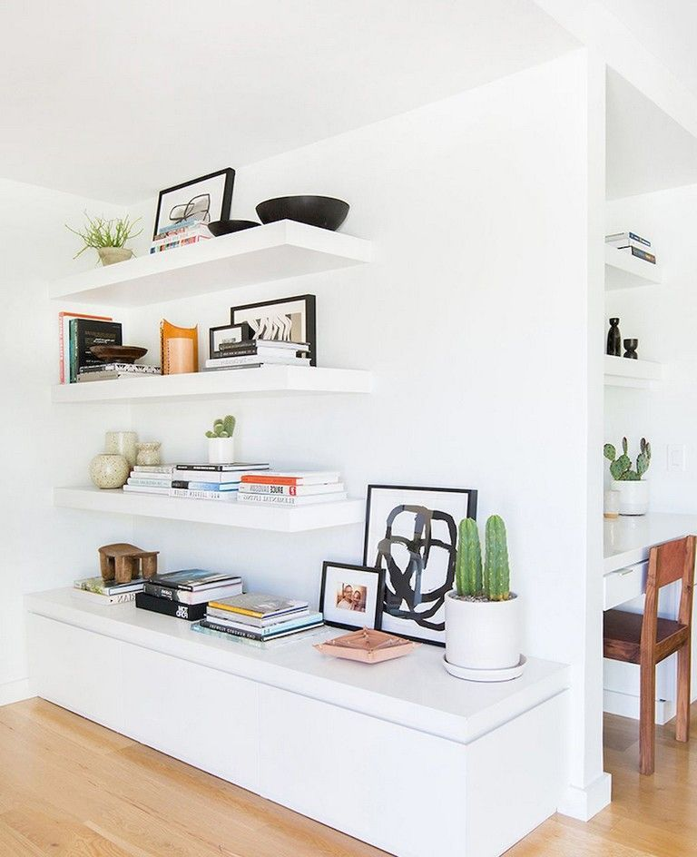 70 exciting floating shelves for living room decorating