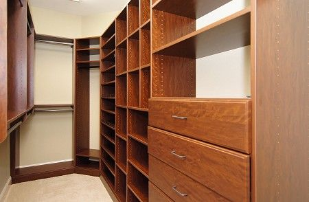 Walk in closet designed by closet creations