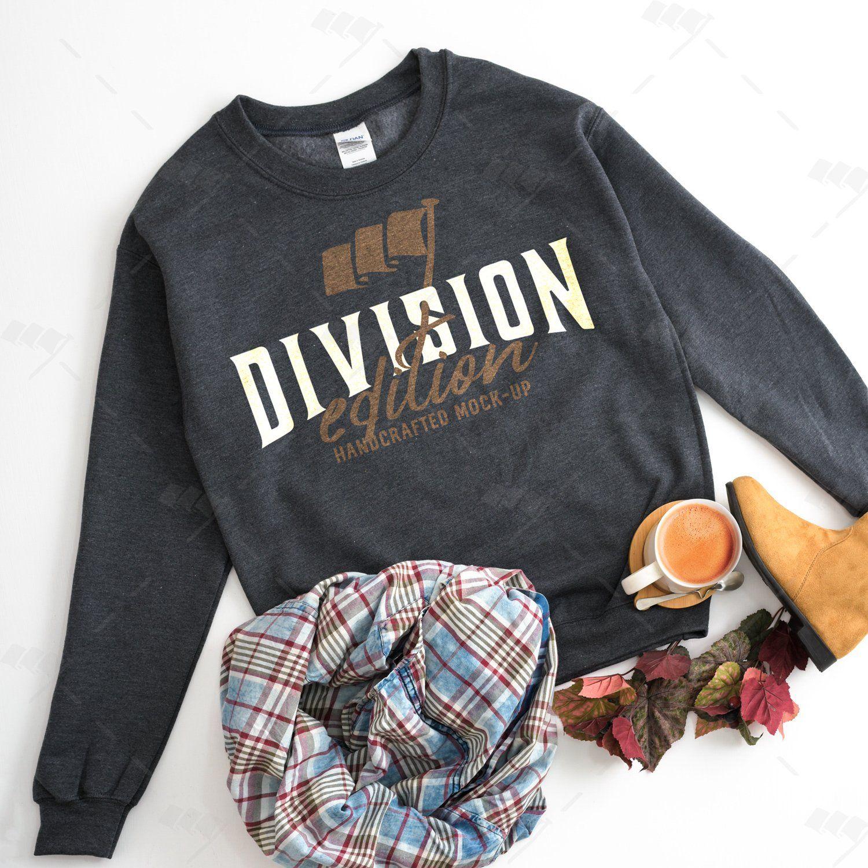 Gildan Sweatshirt Mockup 18000 Mockup Dark Heather Sweatshirt Shirtmockup Blanktshirt Tshirtmockup Mygild Gildan Sweatshirts Htv Shirts Shopping Tshirt [ 1500 x 1500 Pixel ]