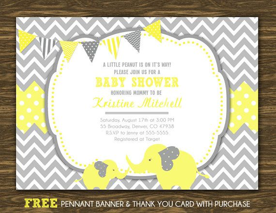 Baby Shower Invitation Backgrounds Free Fair Elephant Baby Shower Invitation  Printable Free Thank You And .