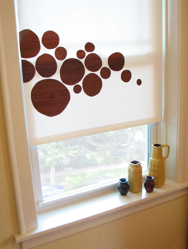 Diy Vinyl Shade Decals How About Orange Diy Window Treatments Diy Contact Paper Window Diy Window