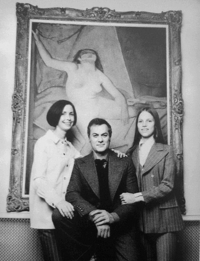 tony curtis leslie allen and kelly curtis in los angeles