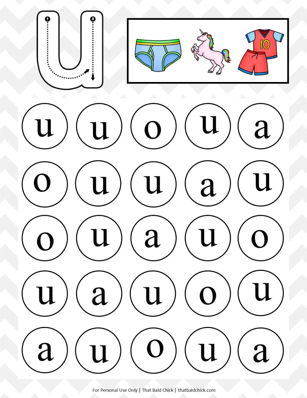Get This Free Lowercase Do A Dot Letter U Printable At