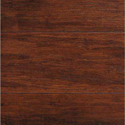 Hand Scraped Strand Woven Brown 1 2 In T X 5 1 8 In W X 72 7 8 In L Solid Bamboo Flooring In 2020 Bamboo Flooring Bamboo Wood Flooring Wood Laminate Flooring