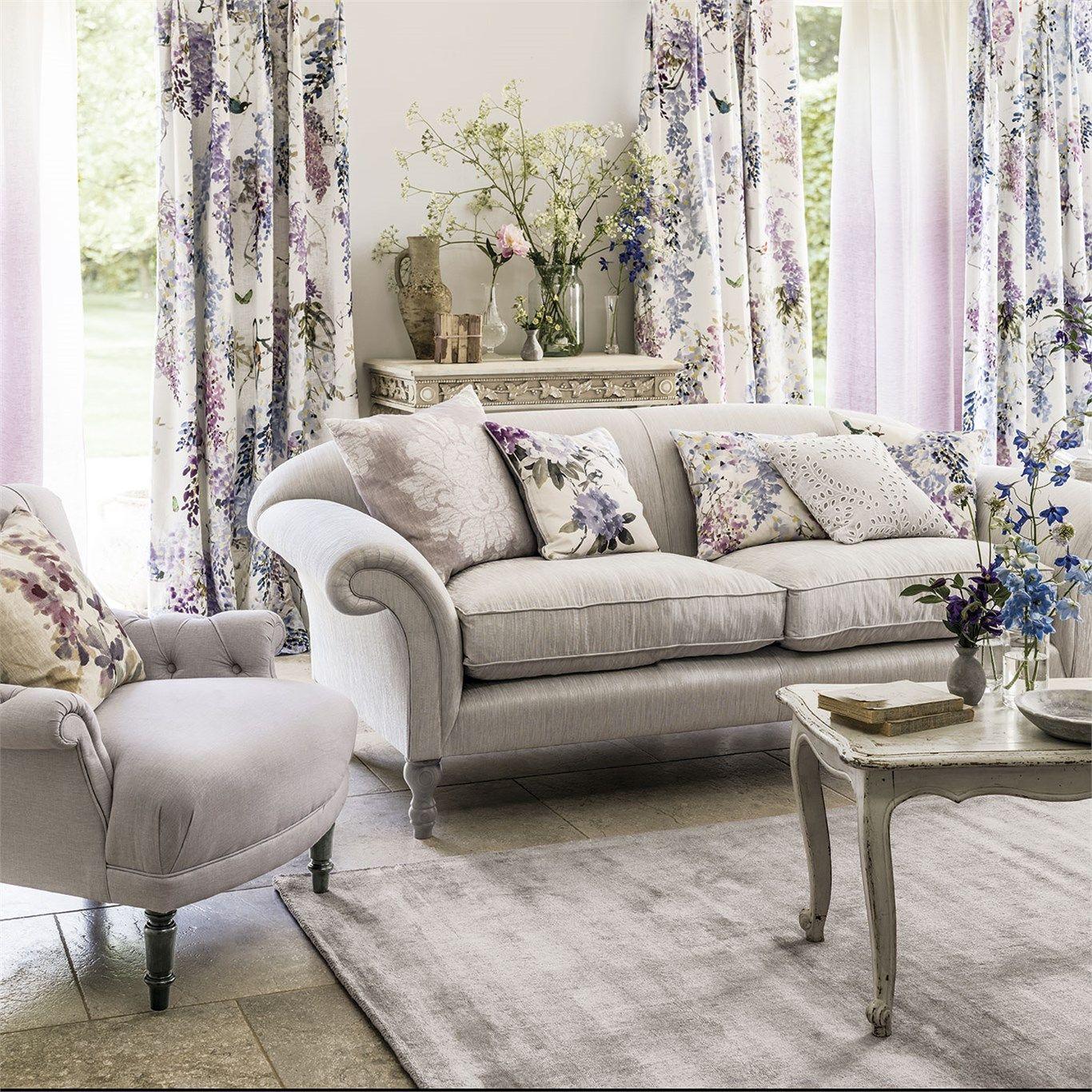 Sanderson Fabric Wisteria Falls 226286 Home, living