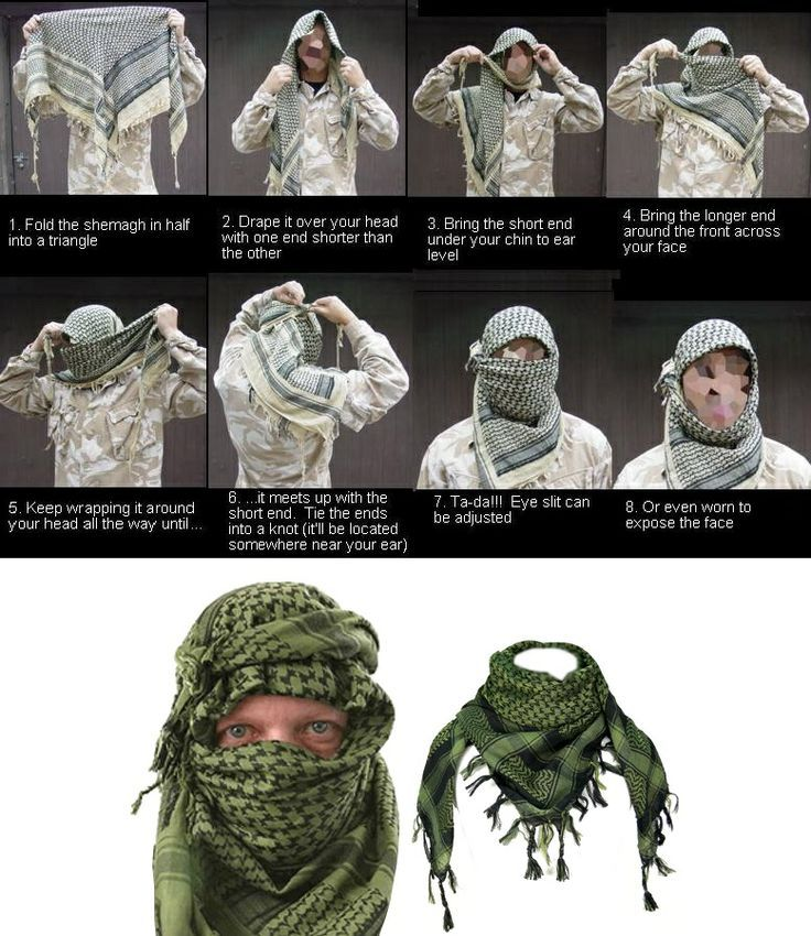 How To Tie A Shemagh Tactical Survival Skills