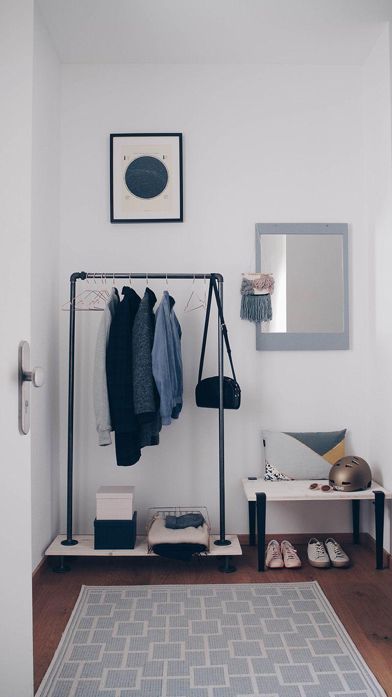 Flur Gestaltung Garderobe Pastellfarben Kleine Diy S Zuhause