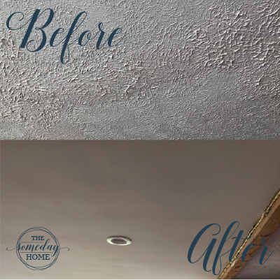 How To Remove Stippled Ceiling Texture Stippled Ceiling Ceiling Texture Smooth Ceiling