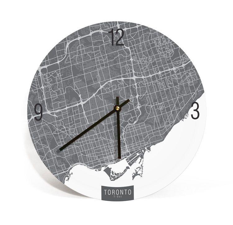 Toronto Canada Map Art Wall Clock Yas Pinterest Toronto