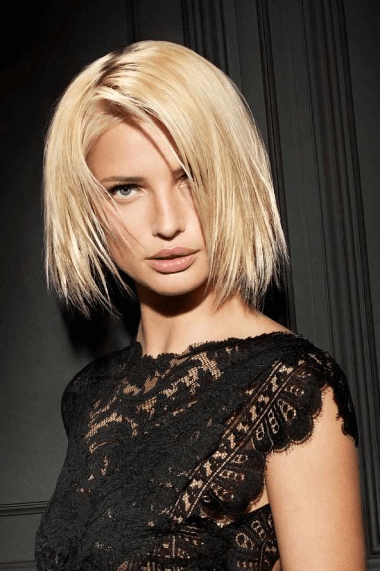 bob-frisur eine länge | easy hairstyles, medium hair