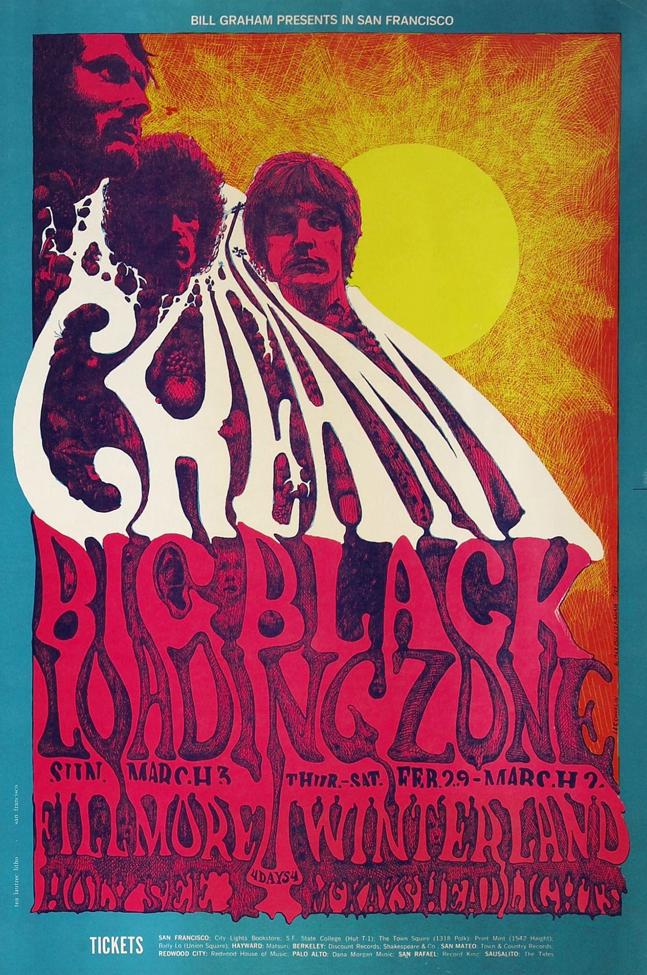 Psychedelic Sixties Vintage Concert Posters Rock Posters Concert Posters
