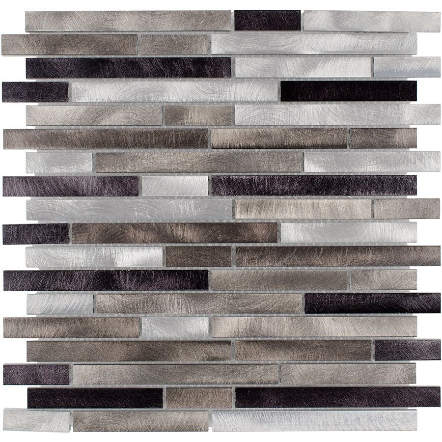 Brown Mosaic Glass Stone Wall Tile L 300mm W 308mm: Shop Elida Ceramica Champagne Mix Metal Mosaic Indoor