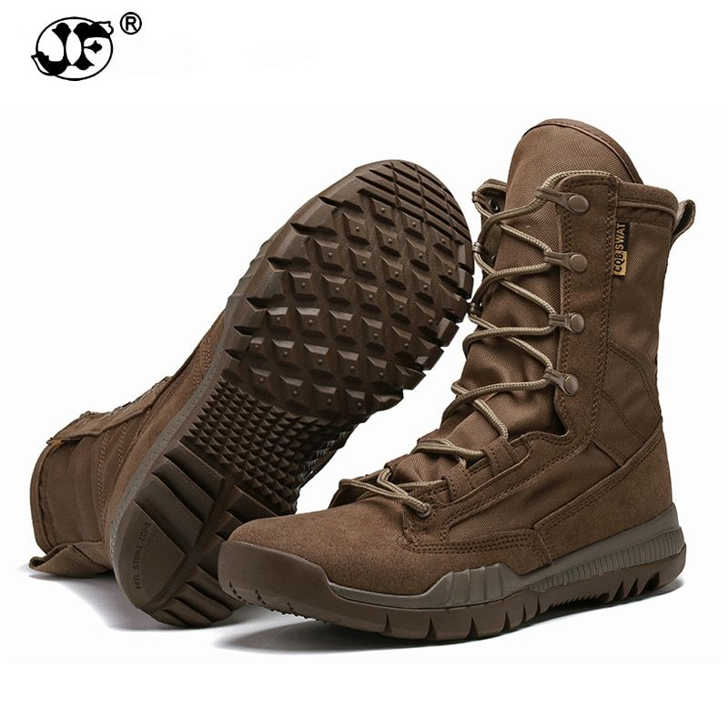 63d587ea06c Fashion Outdoor Army Boots Men Microfiber cloth Military Boots ...
