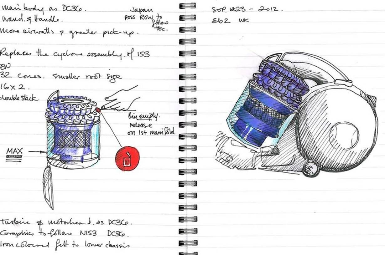 Most Ideas Begin Life In An Engineer S Sketchbook Invention Innovation Sketch Design Drawing Skills