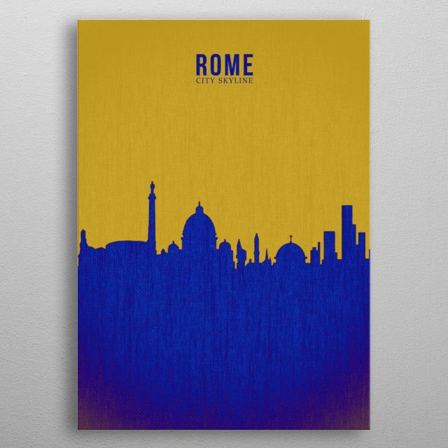 ROME_SILHOUTTE OUTERSPACE metal poster | Displate thumbnail