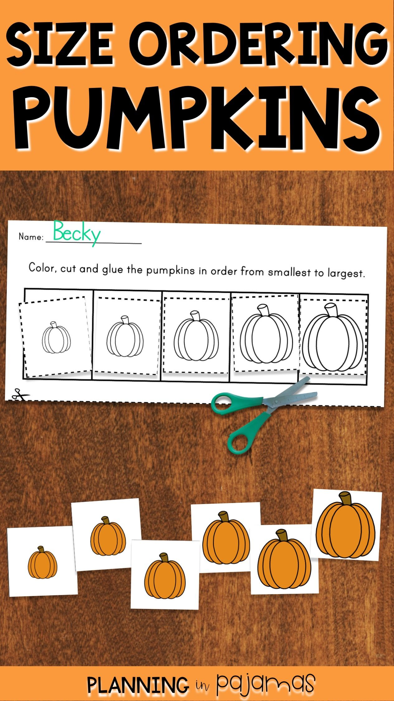 Pumpkins Size Ordering From Smallest To Largest