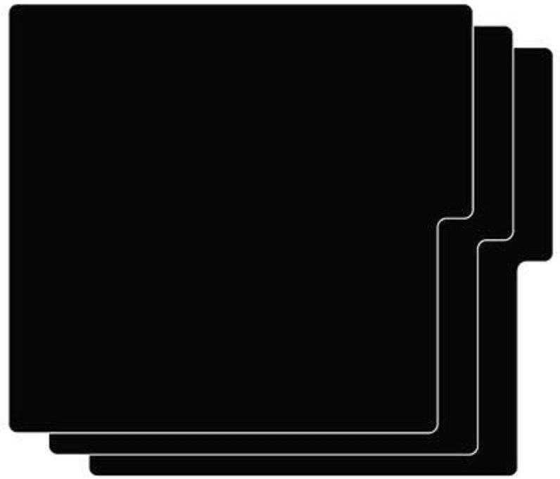 Vertical Black Record Dividers 26 Ct Blank Plastic Cards 12 33 Lp Vinyl Expedit Vinyl Records Lps Vinylrecords S Record Dividers Album Storage Lp Dividers