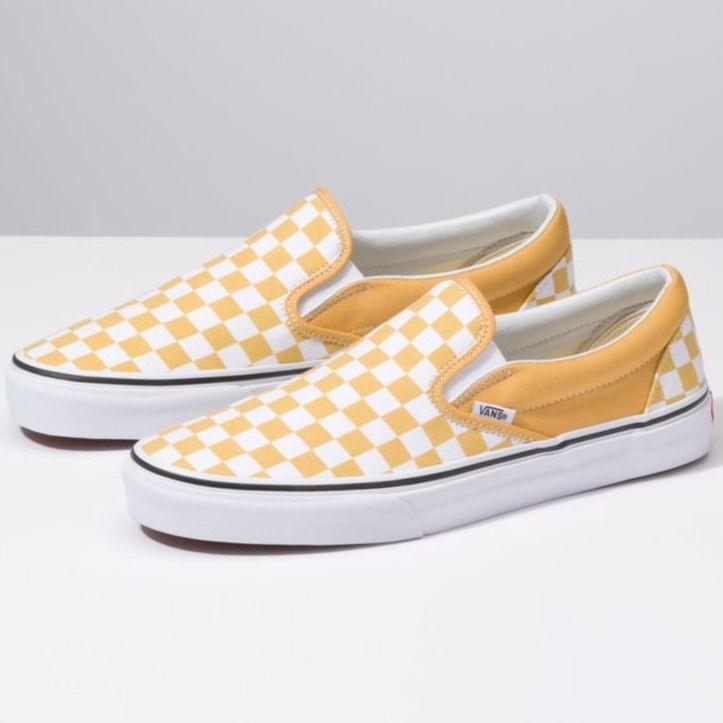 Yellow Checked Vans   Vans shoes