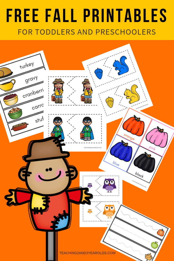 Free Fall Printables Posts From Teaching 2 And 3 Year Olds