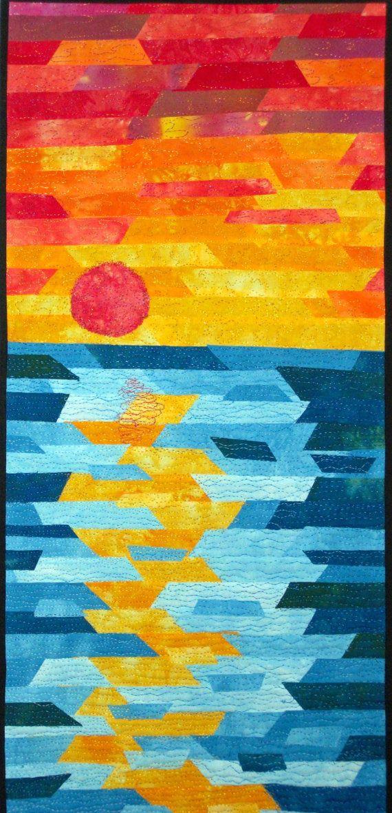 Reflections ~ Fiber Wall Art - Fibre Wall Art ~ Textile Art ~ Quilt ...