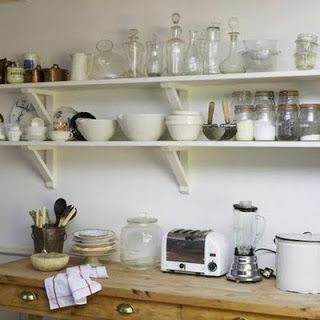 Two Men and a Little Farm: OPEN SHELVES IN THE KITCHEN