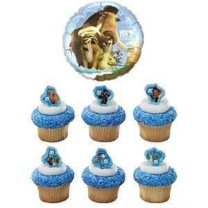 24 Ice Age Cupcake Rings with Ice Age