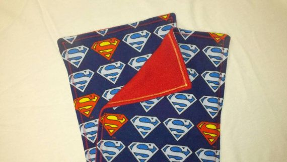Check out this item in my Etsy shop https://www.etsy.com/listing/219846743/set-of-2-superman-burp-cloths