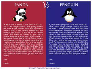 Google's Panda vs Penguin updates #SEO