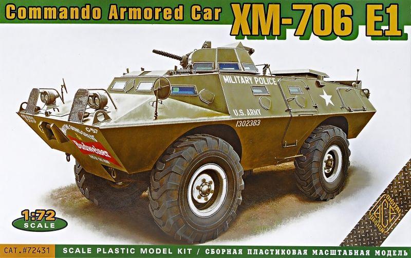 XM706 E1 Commando Armored Car 1/72 Scale Plastic Model