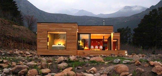 Planos casas de madera prefabricadas plano de casa de - Refugios de madera prefabricados ...