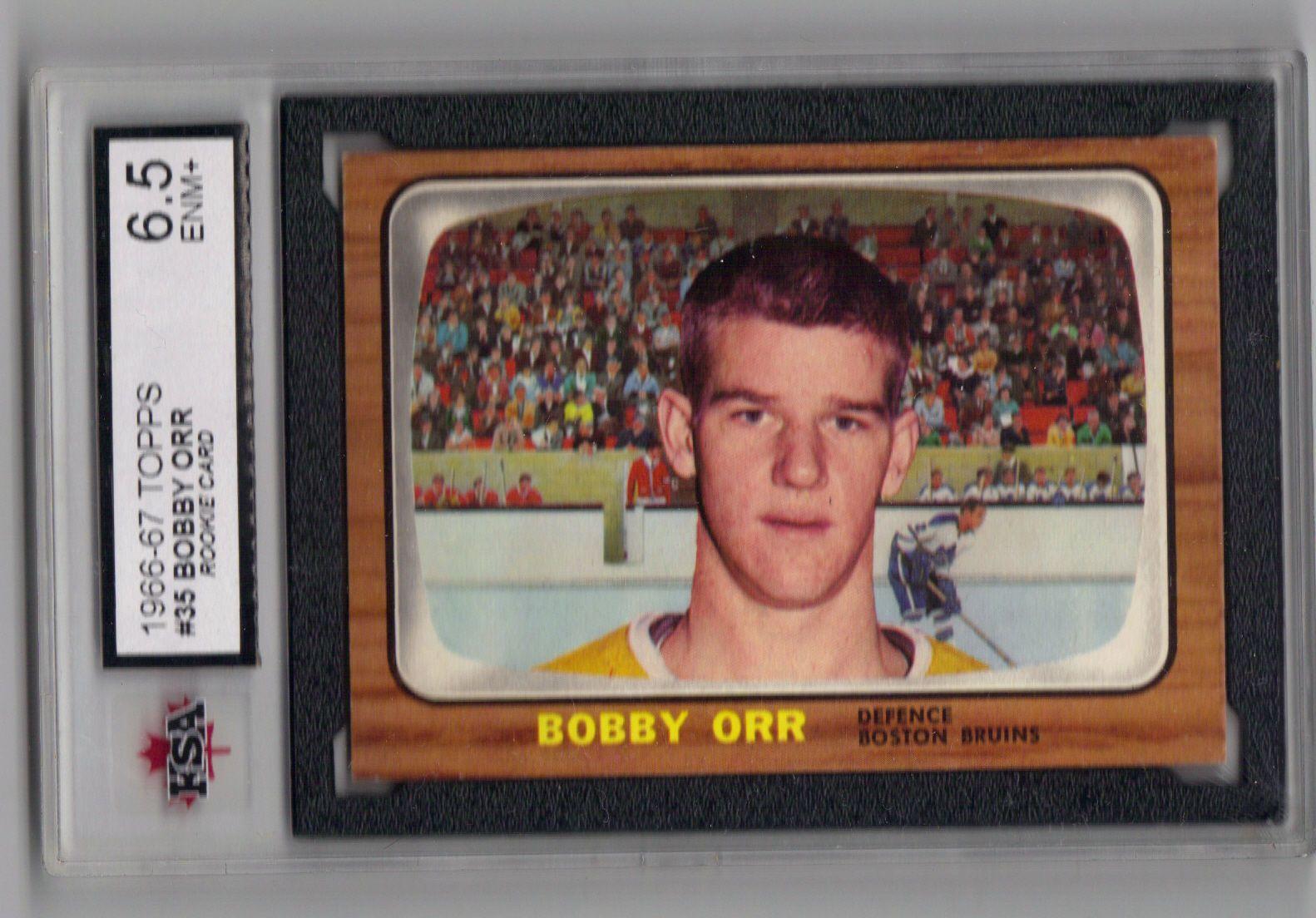 Bobby Orr 1966 67 Topps 35 Ksa 65 Enm Rookie Card