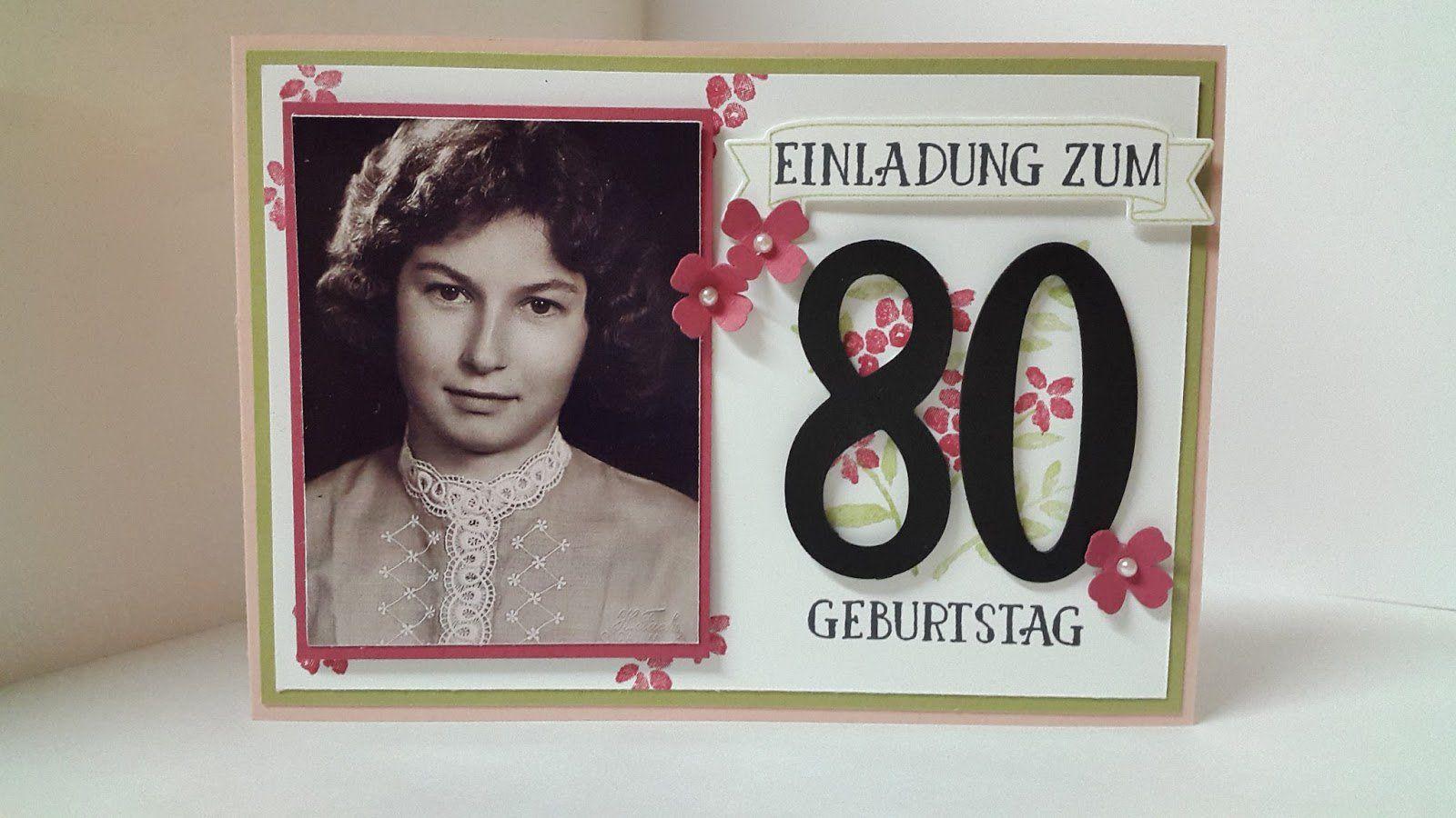 Einladungskarten 18 Geburtstag Selber Machen Karten: Einladung Geburtstag : Einladung 80 Geburtstag