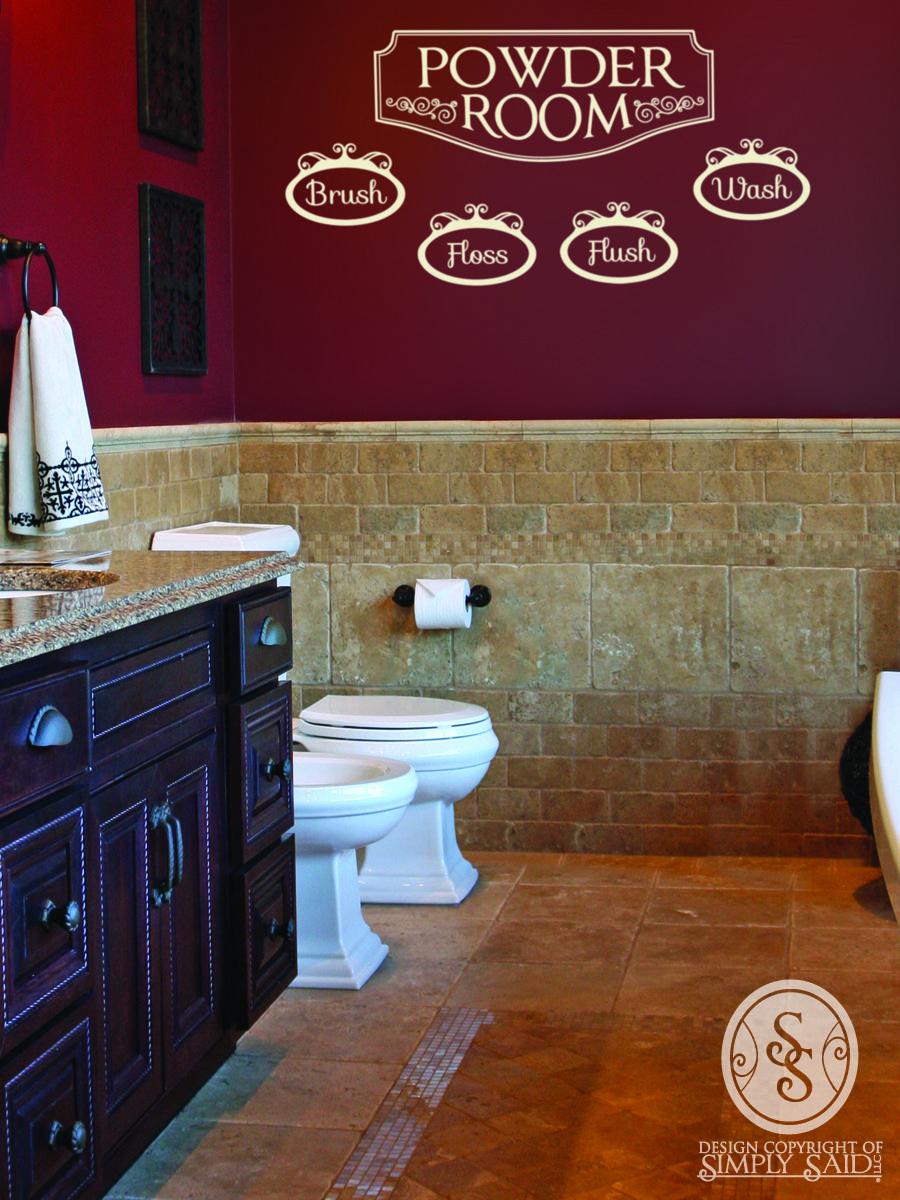 Simply Beautiful Bathrooms: Beautiful Bathroom Wall Design. Www.mysimplysaiddesigns