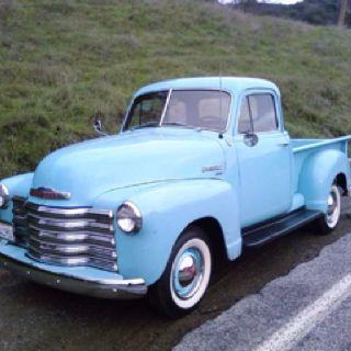 1951 Chevy Truck Old Blue Vintage Trucks Chevy Pickup Trucks