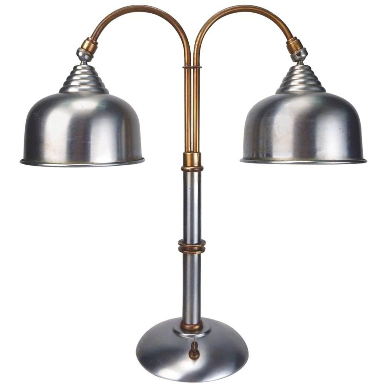 1930s Streamline Machine Age Faries Lamp Co Steel And Brass Desk Lamp Brass Desk Lamp Lamp Desk Lamp