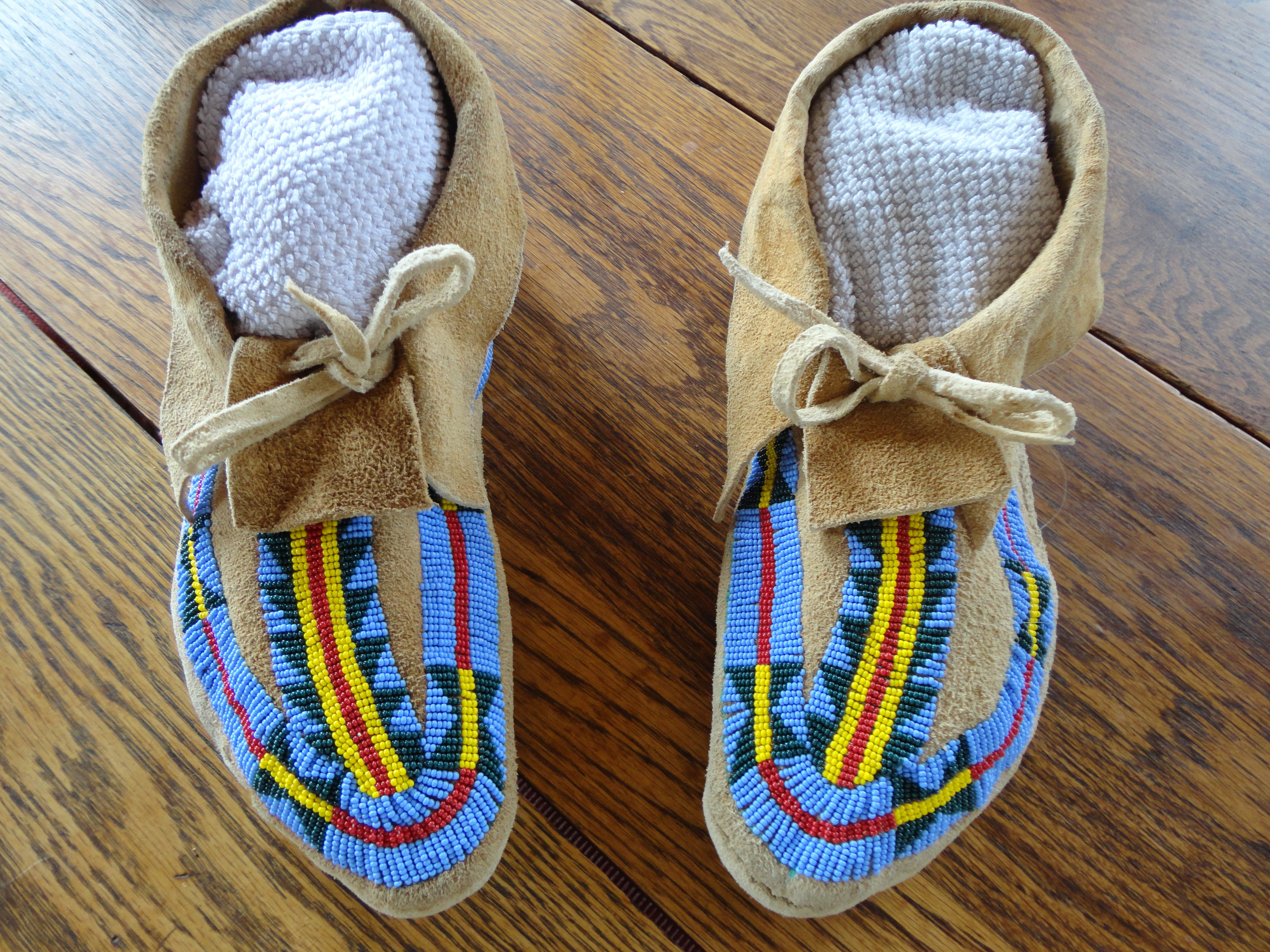 Moccasins Made By Tom Oar Beaded By Connie Oar 2013 Crafts