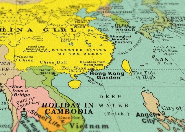 This world map pinpoints 1200 songs right where they should be