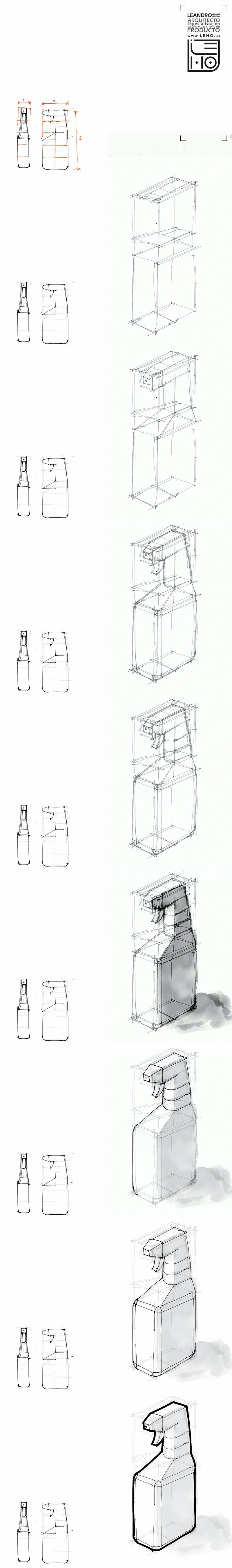 Tutorial rapido de bocetacion. Botella Bottle sketch