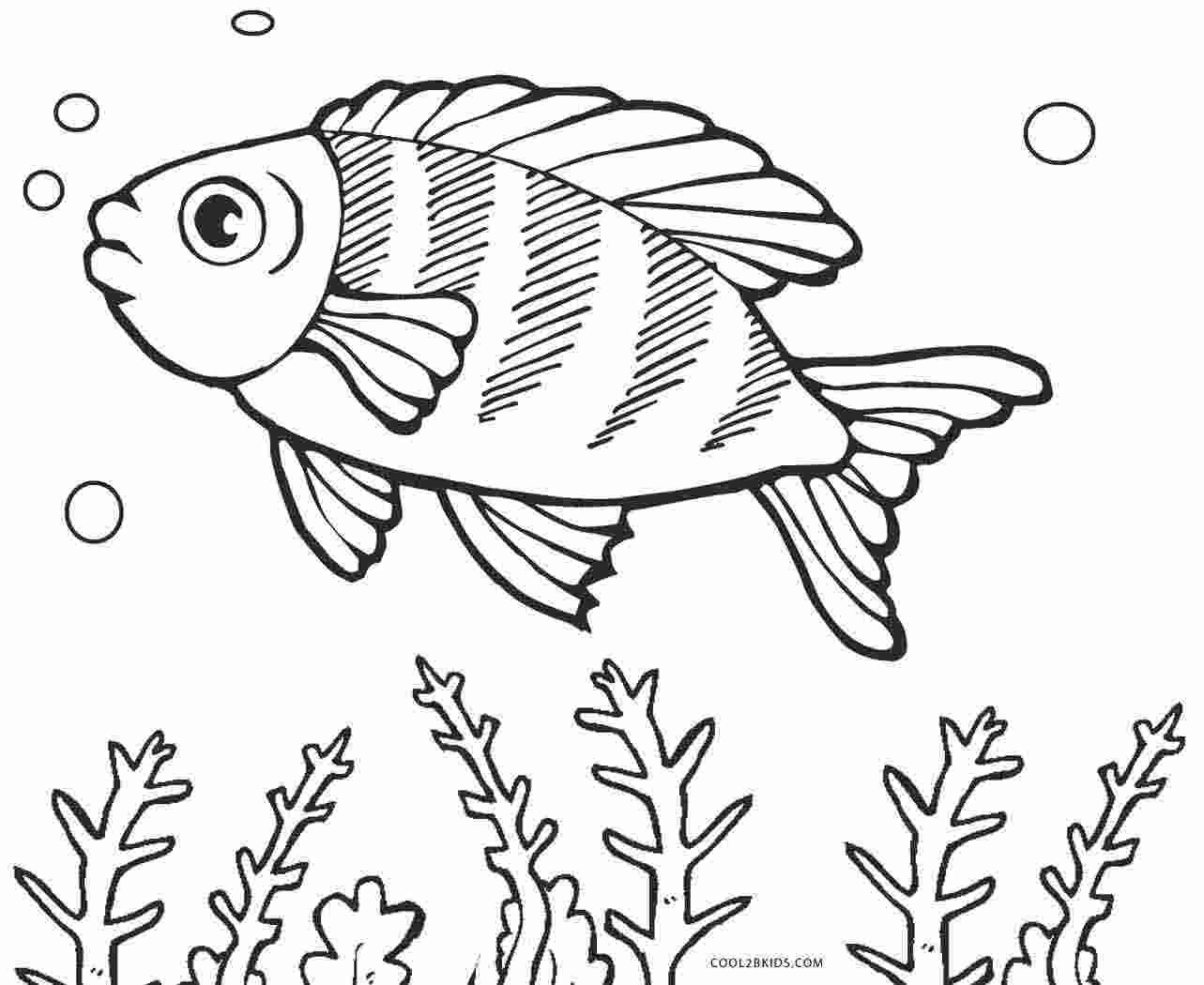 Coloring Pages Printable Coloring Pages Of A Fish