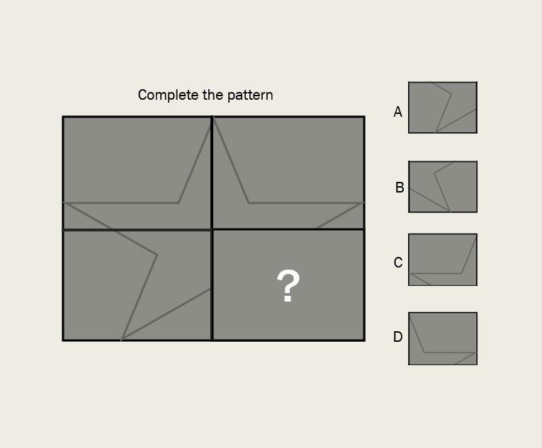 Choose The Correct Block To Complete The Pattern  Write