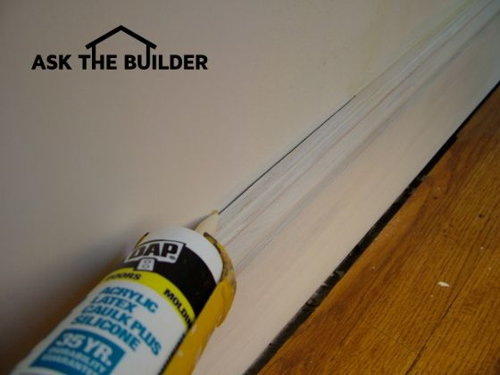 Paint Will Not Hide The Gap Between The Wall And The Baseboard Caulking Is Required To Cover The Gap Knowing How To Caul Caulk Baseboards Baseboards Caulking