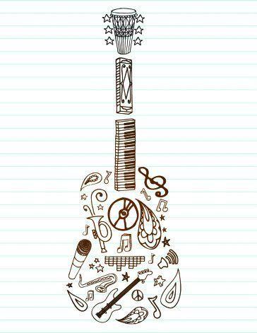 pin by eva dubrav kov on tattoos pinterest tattoo guitars and drawings. Black Bedroom Furniture Sets. Home Design Ideas