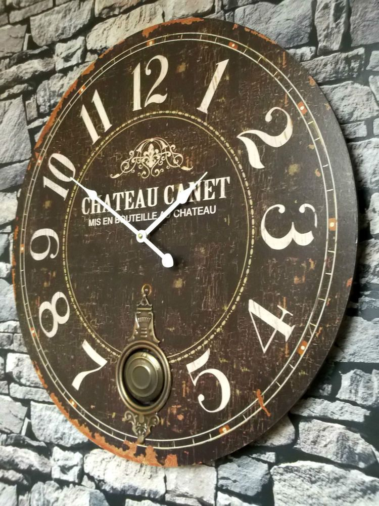 Extra Large 60cm Antique French Vintage Style Wall Clock Shabby Chic
