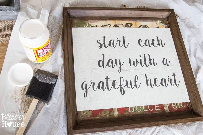 DIY Typography Signs from Cast-Off Art | Bless'er House