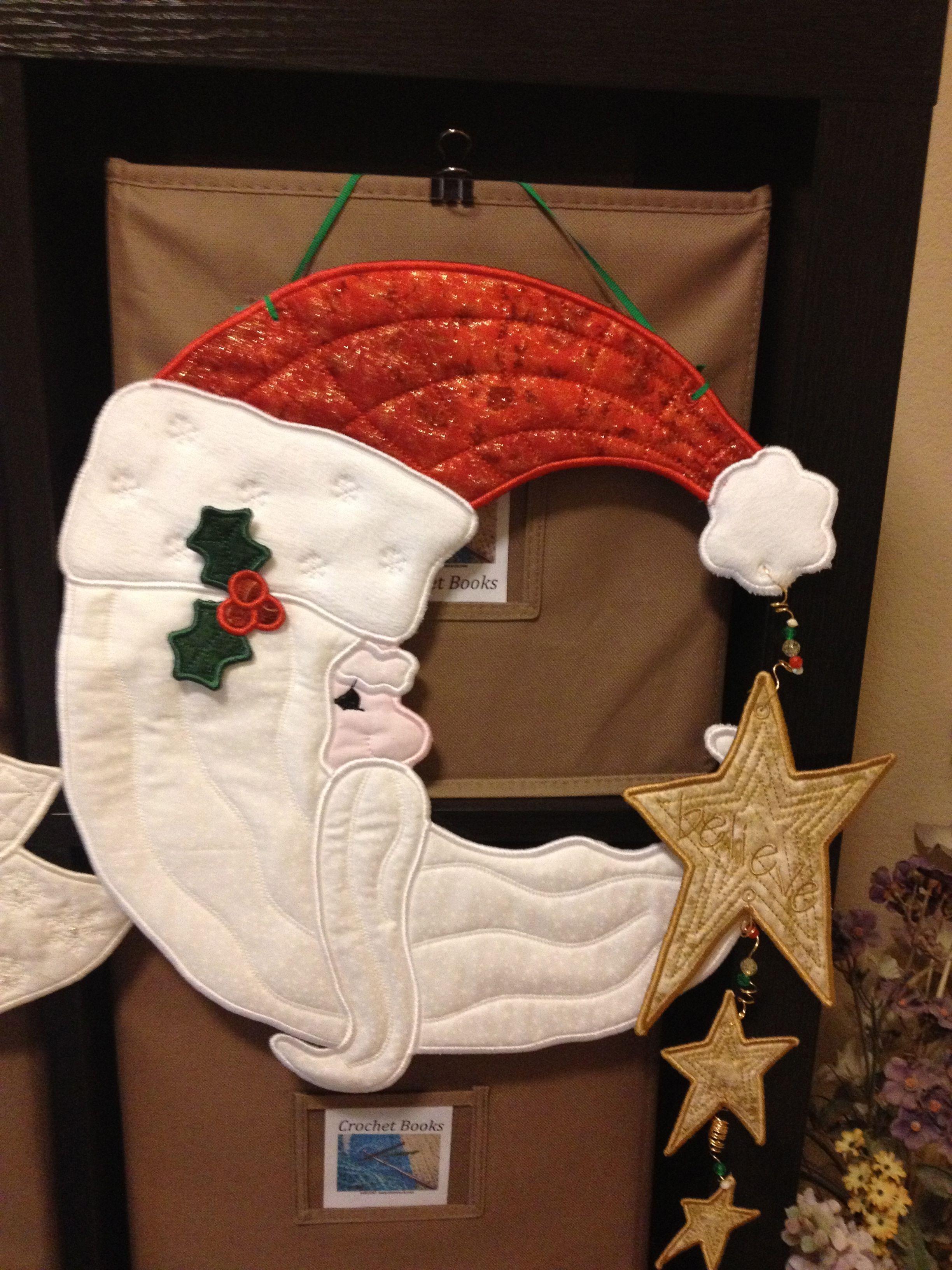 Crescent Santa PJ's in the hoop design | Sewing ...