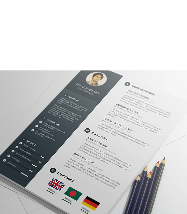 free resume template on behance cv pinterest template